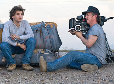 Sean Penn filming Into the Wild